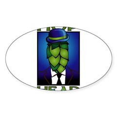 Hop Head Rectangle Sticker (Oval 10 pk)
