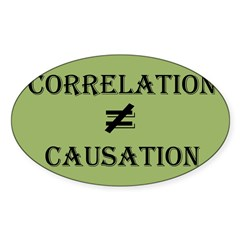 Correlation Causation Sticker (Oval 10 pk)