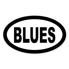 Blues Oval Sticker (Oval 10 pk)