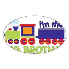train big brother t-shirts Rectangle Sticker (Oval 10 pk)