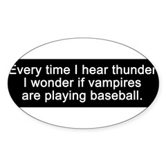 Baseball Vampires Sticker (Oval 10 pk)