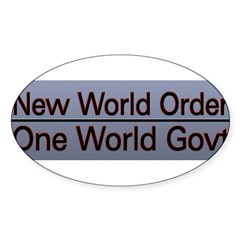 New World Order Truth Sticker (Oval 10 pk)