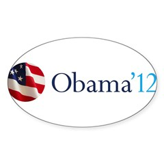 Obama '12 Sticker (Oval 10 pk)