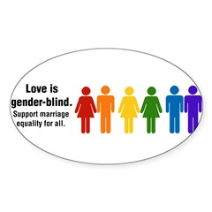 Marriage Equality Sticker (Oval 10 pk)