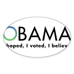 Obama, I believe Sticker (Oval 10 pk)