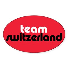 Team Switzerland Rectangle Sticker (Oval 10 pk)