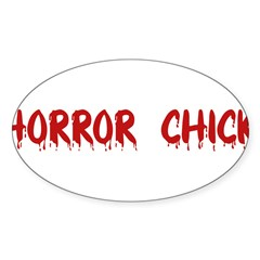 Horror Chick Rectangle Sticker (Oval 10 pk)