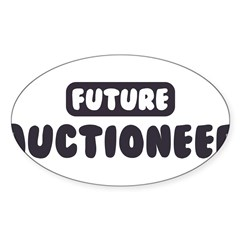 Future Auctioneer Sticker (Oval 10 pk)
