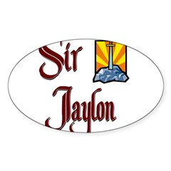 Sir Jaylon Rectangle Sticker (Oval 10 pk)
