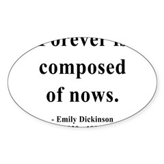 Emily Dickinson 3 Sticker (Oval 10 pk)