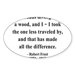 Robert Frost 1 Rectangle Sticker (Oval 10 pk)