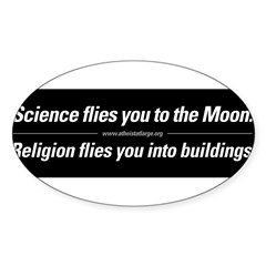Science vs. Religion Sticker (Oval 10 pk)