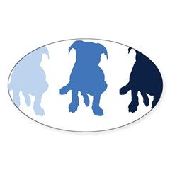TPBP Blue Rectangle Sticker (Oval 10 pk)