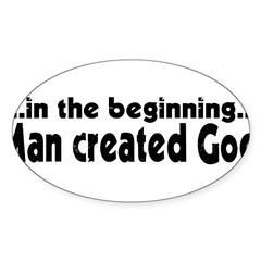 in the beginning Sticker (Oval 10 pk)