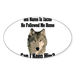 Can I keep him??? Sticker (Oval 10 pk)