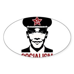 Obama Socialism Rectangle Sticker (Oval 10 pk)