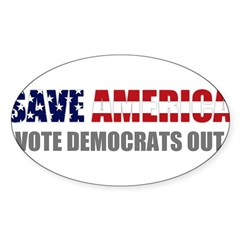 Save America Sticker (Oval 10 pk)