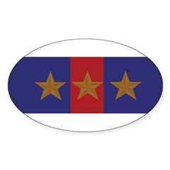 Marine Corps Recruiting 3 star (Bumper) Sticker (Oval 10 pk)