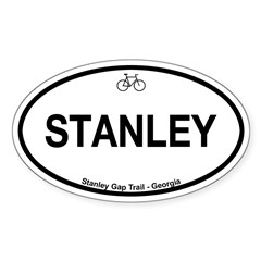 Stanley Gap Trail Sticker (Oval 10 pk)
