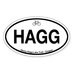 Henry Hagg Lake Trail Sticker (Oval 10 pk)