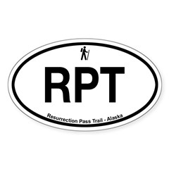 Resurrection Pass Trail Sticker (Oval 10 pk)
