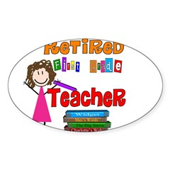 Elementary Sticker (Oval 10 pk)