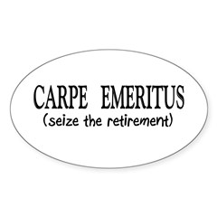 Retired II Sticker (Oval 10 pk)