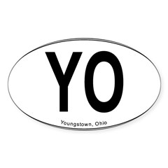 "Youngstown ""YO"" Sticker (Oval 10 pk)"