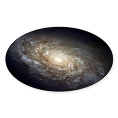 NGC 4414 Spiral Galaxy Oval Sticker (Oval 10 pk)