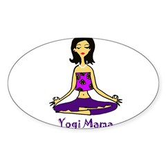 Yogi Mama Rectangle Sticker (Oval 10 pk)