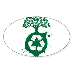 Recycle Sticker (Oval 10 pk)