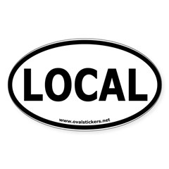 Local Oval Car Sticker (Oval 10 pk)