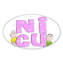 Nurse XXX Sticker (Oval 10 pk)