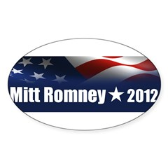 Mitt Romney 2012 Sticker (Oval 10 pk)