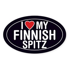 I Love My Finnish Spitz Oval Sticker/Decal Sticker (Oval 10 pk)