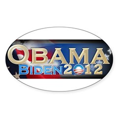 Obama Biden - Sticker (Oval 10 pk)