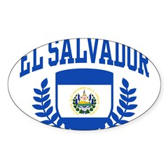 El Salvador Sticker (Oval 10 pk)