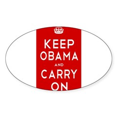 Keep Obama Sticker (Oval 10 pk)