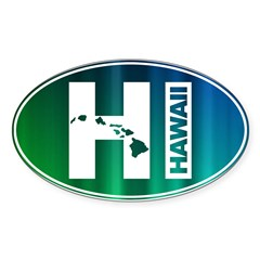 HI Hawaii - Sticker (Oval 10 pk)