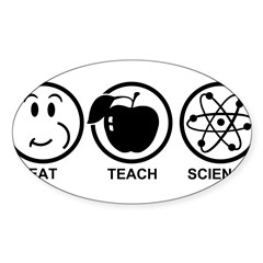 Science Teacher Sticker (Oval 10 pk)