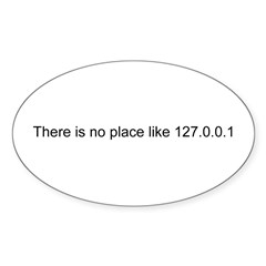 127.0.0.1 Rectangle Sticker (Oval 10 pk)