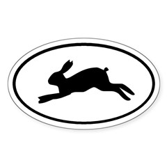 Rabbit Oval Sticker (Oval 10 pk)