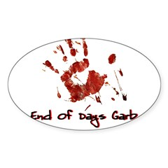 EODG Handprint Logo Sticker (Oval 10 pk)