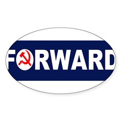 AmerikaForward Sticker (Oval 10 pk)