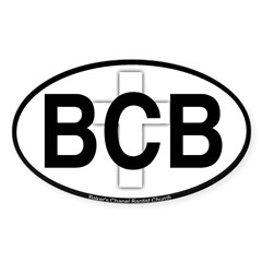 Baker's Chapel Oval Sticker (Oval 10 pk)