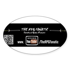 RPG Fanatic Bumper Sticker (single) Sticker (Oval 10 pk)