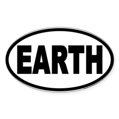 Earth Day EARTH Euro Oval Sticker (Oval 10 pk)