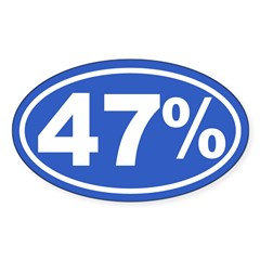 47 Percent Sticker (Oval 10 pk)