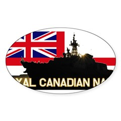 Royal Canadian Navy Rectangle Sticker (Oval 10 pk)