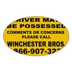 How's My Driving Sticker (Oval 10 pk)